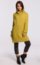 Cozy Oversized Turtleneck Sweater in Yellow by MOE