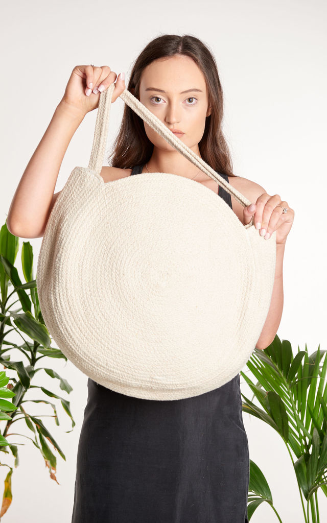 Ridhi Large Cotton Shoulder Bag by ellyla -ethical & eco friendly accessories