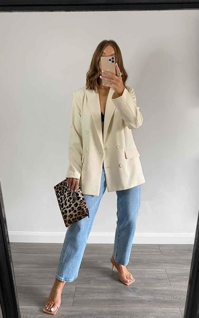 Cream Oversized River Blazer by Urban Bliss