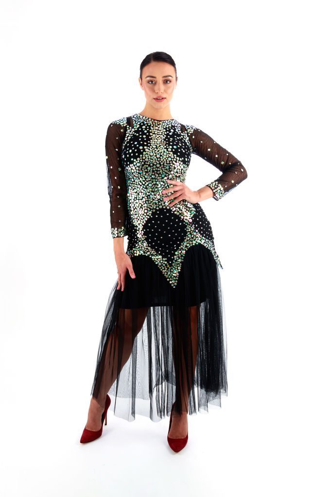 Arabella Sequin Maxi Dress in Black by Damn Good Thing