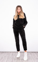 Hooded corduroy Co-ord Set (Black) by Lucy Sparks