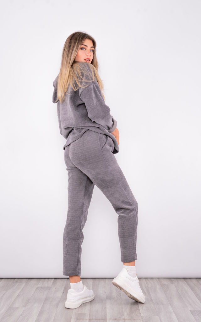 Hooded corduroy Co-ord Set (Grey) by Lucy Sparks