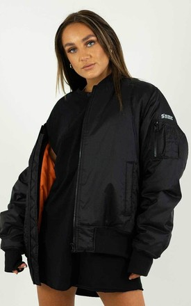 Black Padded Bomber Jacket by sianmarie.com