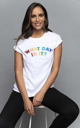 What day is it T Shirt White by James Steward
