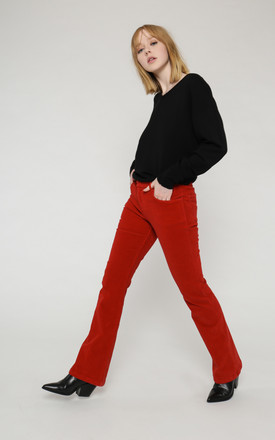 Elqui organic cotton corduroy trousers by VILDNIS