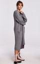 Long Oversized Cardigan with Pockets in Grey by MOE