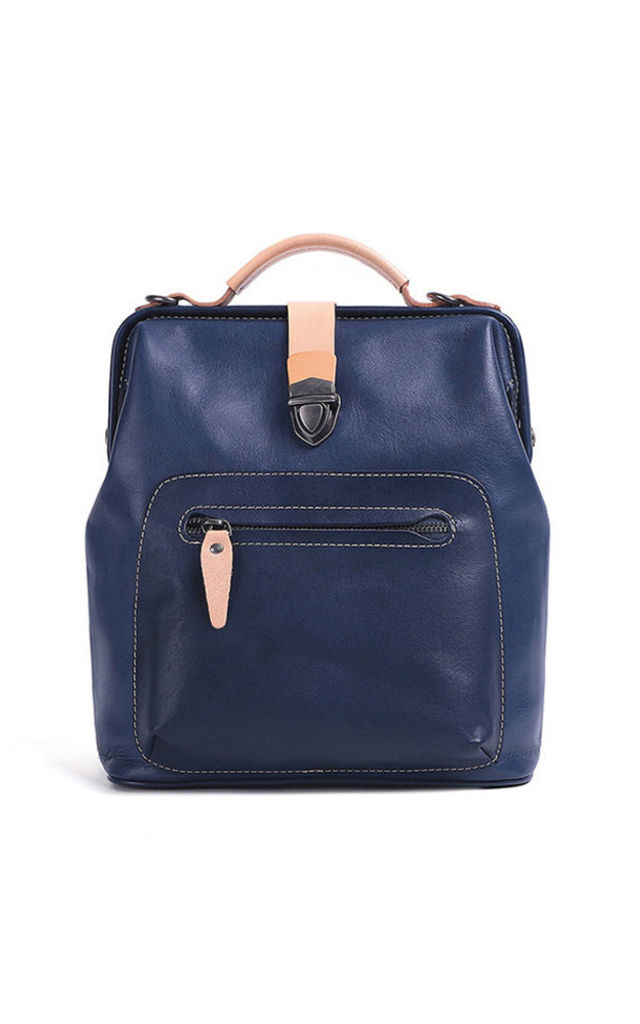 Small Leather Urban Backpack by MOOD BAG