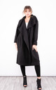 Long Trench Coat with pockets (Black) by Lucy Sparks