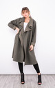Long Trench Coat with pockets (Khaki) by Lucy Sparks
