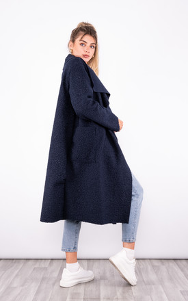 Long Trench Coat with pockets (Navy) by Lucy Sparks