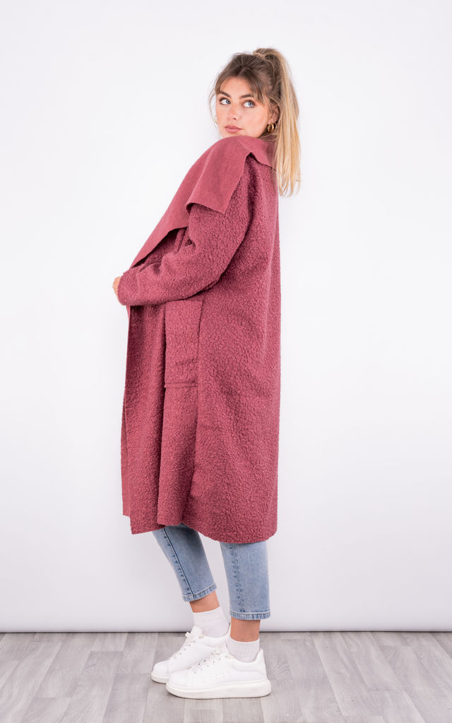 Long Trench Coat with pockets (Pink) by Lucy Sparks