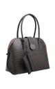 CROC PRINT BAG WITH DETACHABLE CARD HOLDER GREY by BESSIE LONDON