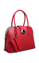 CROC PRINT BAG WITH DETACHABLE CARD HOLDER RED by BESSIE LONDON