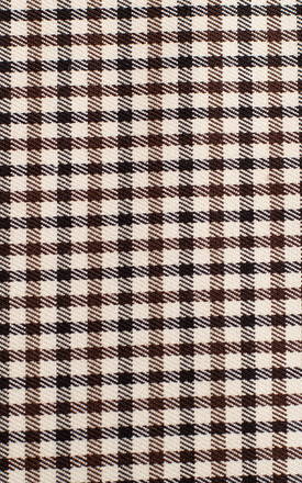 Single Button Blazer in Brown Check Pattern by Dursi