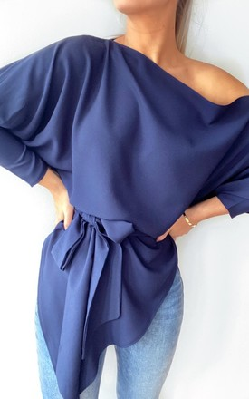 Emy Top with Sleeves Navy by Rag & Doll