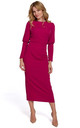 Midi Length Dress with Split Back in Plum by Dursi