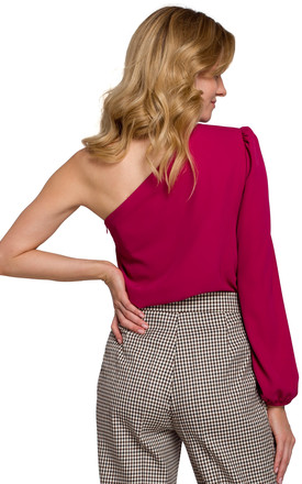 One Shoulder Top in Plum by Dursi