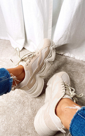 Chunky Trainers In Beige by Truffle Collection Product photo