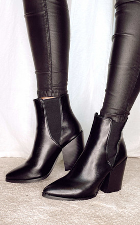 Ankle Boots With Block Heel In Black by Truffle Collection Product photo