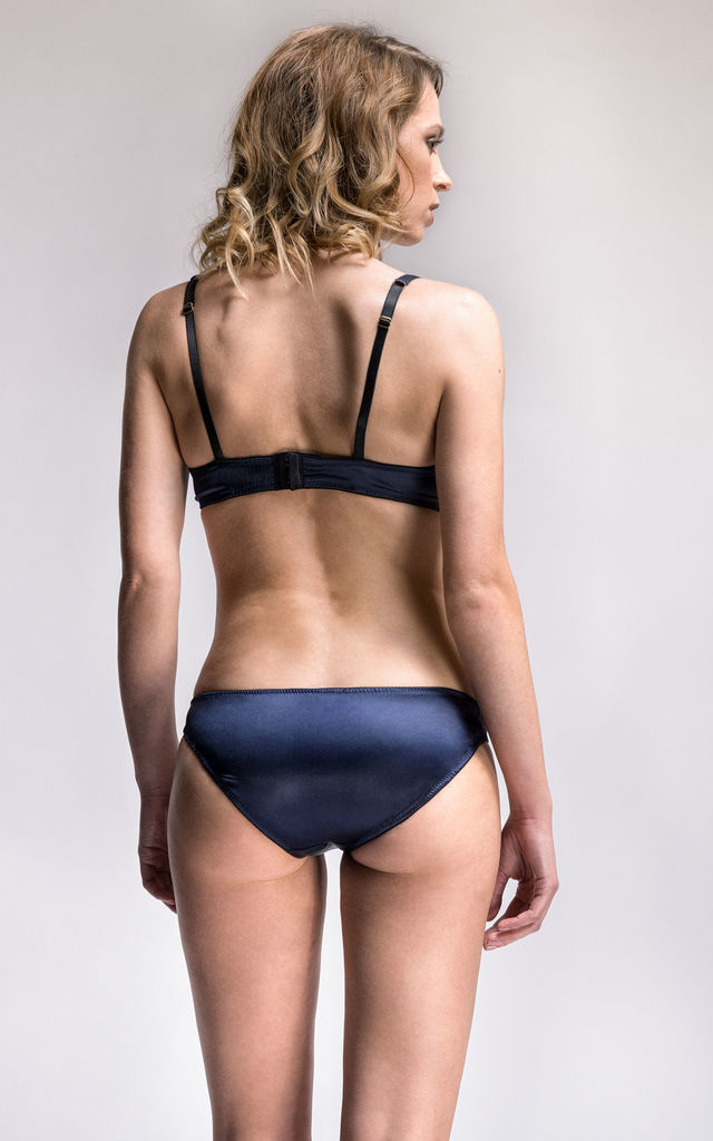 Signature Lace-Front Brief In Navy by Emma Harris