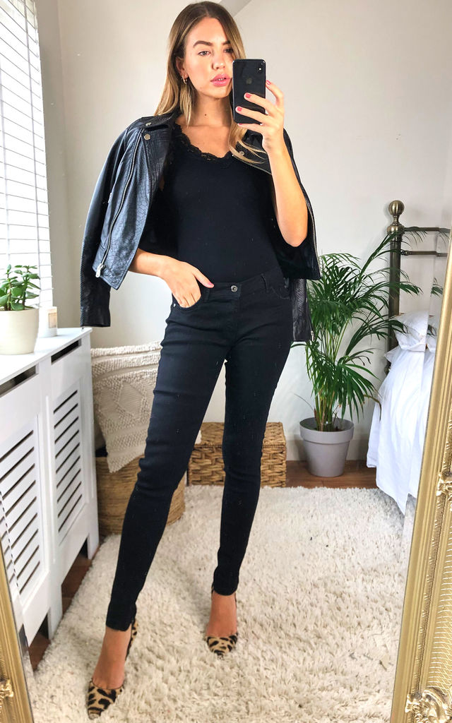 Heidi Black Skinny Jeans by Damn Good Thing