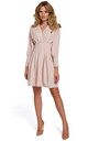 Kimono Sleeve Mini Dress in Beige by Dursi