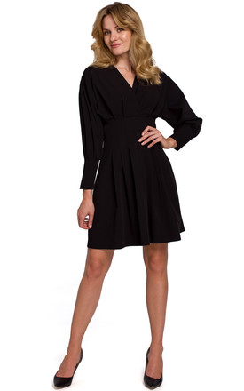 Kimono Sleeve Mini Dress in Black by Dursi