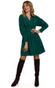 Kimono Sleeve Mini Dress in Green by Dursi