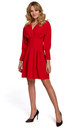 Kimono Sleeve Mini Dress in Red by Dursi