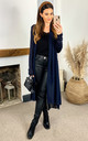 Sheer Longline Cardigan in Navy by Bella and Blue