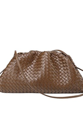 Woven Leather Pouch Bag by Pink Waters Resort