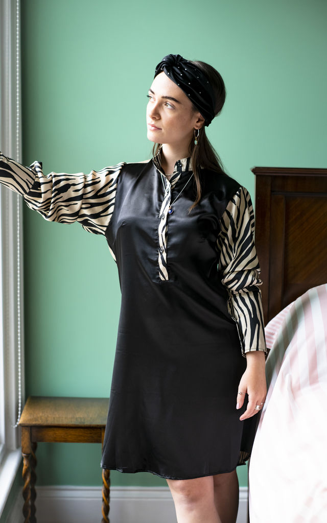 Black Zebra Dawn Shirt by House of Zana