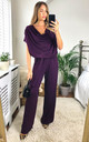 DEE LOUNGEWEAR JUMPSUIT PURPLE by EDDI CLOTHING
