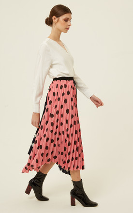Harmur Skirt Assymetric Dots Pink by Jovonna London
