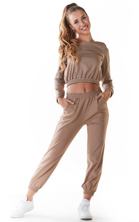 Comfy Joggers with Pockets in Beige by AWAMA
