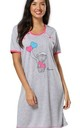 Women's Maternity Nursing Nightie Front Buttons- Skin to Skin Function Fuchsia by Chelsea Clark