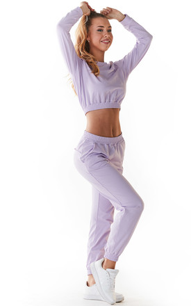 Comfy Joggers with Pockets in Violet by AWAMA