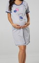 Women's Maternity Nursing Nightie Front Buttons- Skin to Skin Function Navy by Chelsea Clark