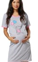 Women's Maternity Nursing Nightie Front Buttons- Skin to Skin Function Pink by Chelsea Clark