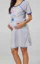 Women's Maternity Nursing Nightie Front Buttons- Skin to Skin Function Royal Blue by Chelsea Clark