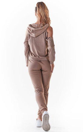 Slim Fit Joggers in Beige by AWAMA
