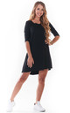 Mini Skater Dress in Black by AWAMA