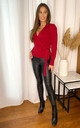 Wrap Jumper in Red by LIENA