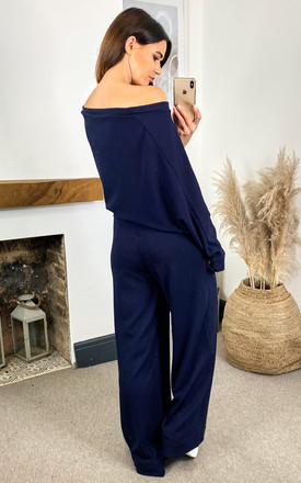 Laura Luxe Trouser Set in Navy Crepe Scuba by House Of Lily