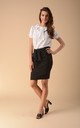 Pencil Mini Skirt in Black by Bergamo