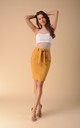 Pencil Mini Skirt in Camel by Bergamo