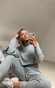 Millie Premium Hood Knit Loungewear Co-ord- Grey by SlayTwins