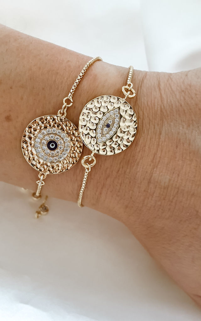 Evil Eye Charm Bracelet Set by Misskukie Jewellery