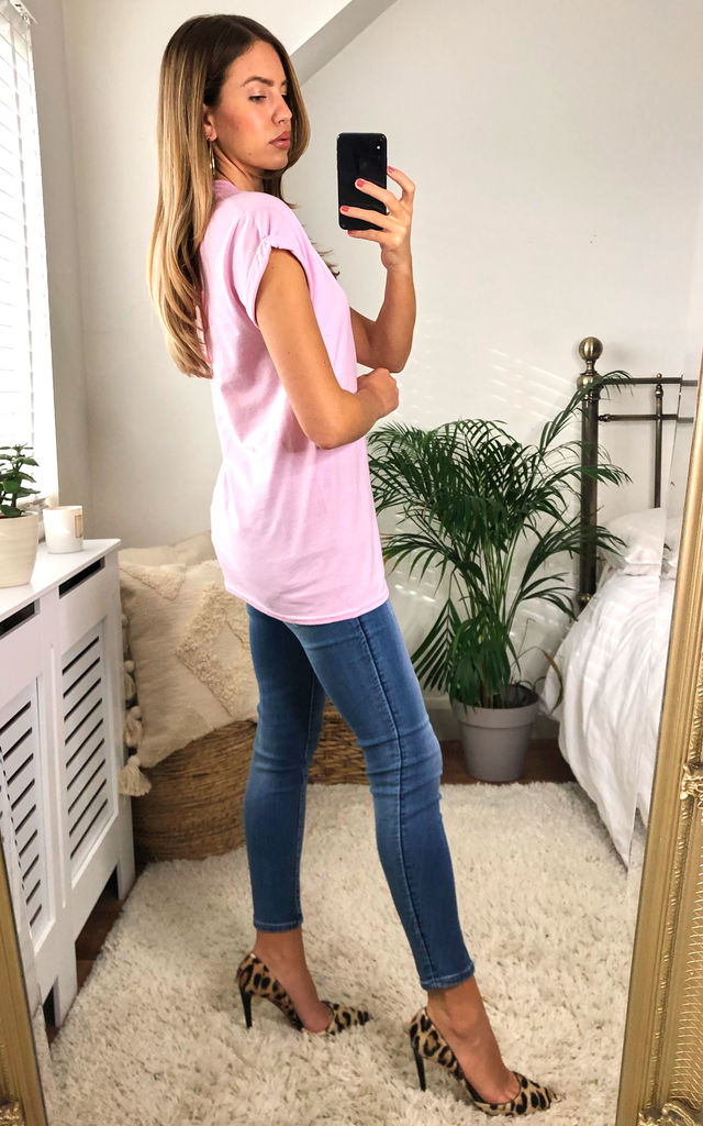 Innocence, Purity, Beauty T-shirt in Baby Pink by House Of Lily