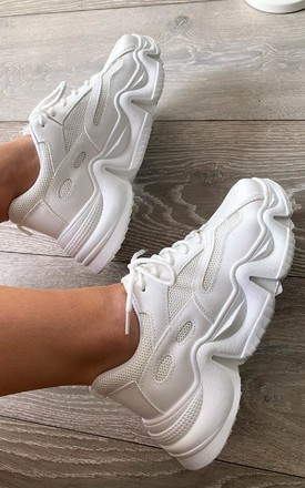 Dani Chunky Trainers in White by IKRUSH